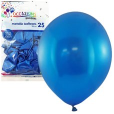 Metallic Royal Blue 30cm Balloons P25