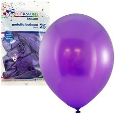 Metallic Purple 30cm Balloons P25