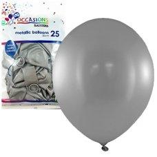 Metallic Silver 30cm Balloons P25