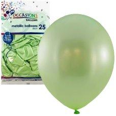 Metallic Mint 30cm Balloons P25