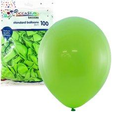 Lime 30cm Balloons Bag 100
