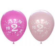 Standard Light & Dark Pink 2Side Print Balloons #2 P6