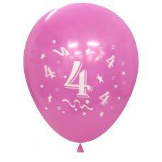 Standard Light & Dark Pink 2Side Print Balloons #4 P6