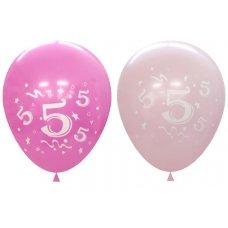 Standard Light & Dark Pink 2Side Print Balloons #5 P6