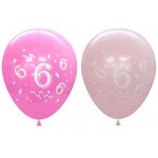 Standard Light & Dark Pink 2Side Print Balloons #6 P6