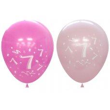 Standard Light & Dark Pink 2Side Print Balloons #7 P6