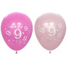Standard Light & Dark Pink 2Side Print Balloons #9 P6