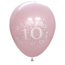 Standard Light & Dark Pink 2Side Print Balloon #10 P6