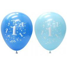 Standard Light & Dark Blue 2Side Print Balloons #1 P6