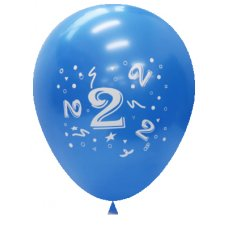 Standard Light & Dark Blue 2Side Print Balloons #2 P6