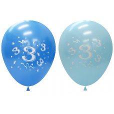 Standard Light & Dark Blue 2Side Print Balloons #3 P6