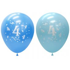 Standard Light & Dark Blue 2Side Print Balloons #4 P6