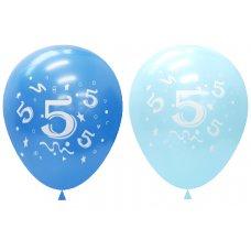 Standard Light & Dark Blue 2Side Print Balloons #5 P6