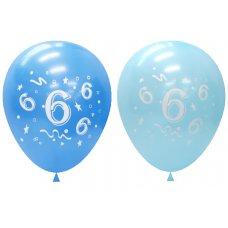 Standard Light & Dark Blue 2Side Print Balloons #6 P6