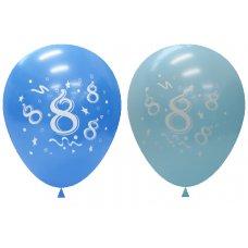 Standard Light & Dark Blue 2Side Print Balloons #8 P6