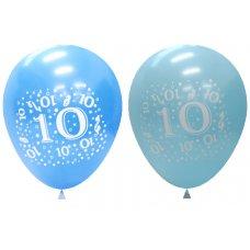 Standard Light & Dark Blue 2Side Print Balloon #10 P6