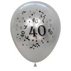 Metallic Silver 2Side Print Balloons #40 P6