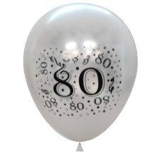 Metallic Silver 2Side Print Balloons #80 P6