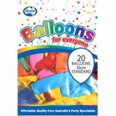Standard Mixed 30cm Balloons P20