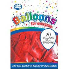 Standard Red 30cm Balloons P20