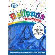 Standard Blue 30cm Balloons P20