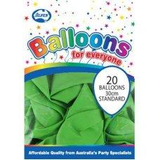 Standard Lime 30cm Balloons P20