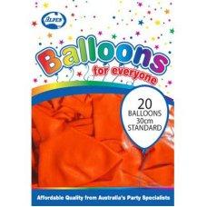 Standard Orange 30cm Balloons P20