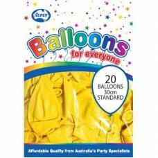 Standard Yellow 30cm Balloons P20