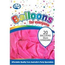Standard Pink 30cm Balloons P20