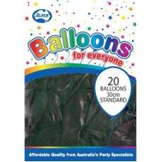 Standard Black 30cm Balloons P20