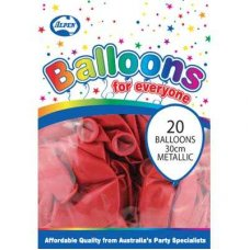 Metallic Red 30cm Balloons P20