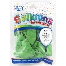 Metallic Lime 30cm Balloons P20