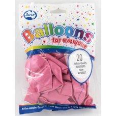Metallic Lt. Pink 30cm Balloons P20