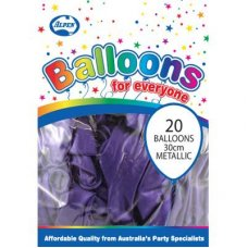 Metallic Purple 30cm Balloons P20