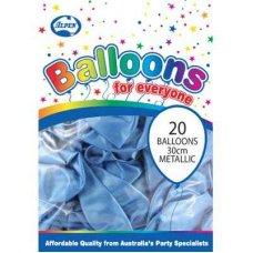 Metallic Lt. Blue 30cm Balloons P20