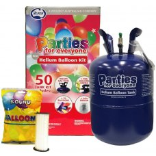 PFE Helium Balloon 50 Kit inc 50 Balloons & Ribbon 2 kits