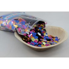 Confetti Metallic 1cm Bright Assorted 250 grams