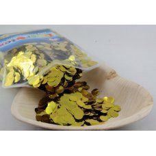 Confetti Metallic 1cm Gold 250 grams