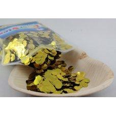 Confetti Metallic 1cm Gold 250 grams