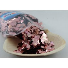 Confetti Metallic 1cm Rose Gold 250 grams
