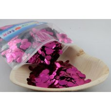 Confetti Metallic 1cm Hot Pink 250 grams