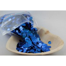 Confetti Metallic 1cm Royal Blue 250 grams