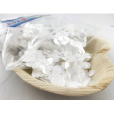 Confetti Metallic 1cm White 250 grams