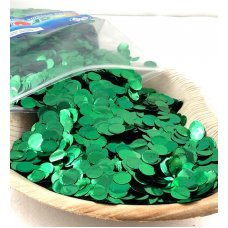 Confetti Metallic 1cm Green 250 grams