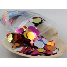 Confetti Metallic 2.3cm Bright Assorted 250 grams