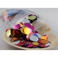 Confetti Metallic 2.3cm Bright Assorted 250 grams