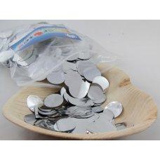 Confetti Metallic 2.3cm Silver 250 grams