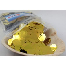 Confetti Metallic 2.3cm Gold 250 grams