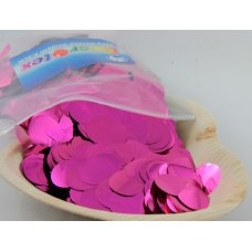 Confetti Metallic 2.3cm Hot Pink 250 grams