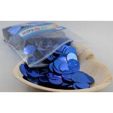 Confetti Metallic 2.3cm Bright Blue 250 grams